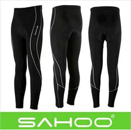 Promotion cuissard vente Vente! SAHOO Outdoor Hommes Cycling Running Long Shorts / Pantalon de Cyclisme Pant Stretch Tight Pants Collants de compression Taille M-3XL