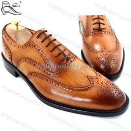 Descuento los hombres hechos a mano de los zapatos oxford La Nave de la gota GOODYEAR ARTESANÍA hecha a mano de cuero de becerro genuino de los hombres de oxford de la boda zapatos de vestir cueros Suela de Tamaño Extra NOS de tamaño de 5 a 12 años