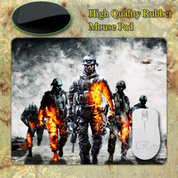 Wholesale Battlefield Battlefield Battlefield Bad Company War Games Blurred Silicon Mouse Pad Mat Mice Pad for Optical