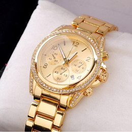 Wholesale High quality Watches automatic Quartz stainless steel Watch Luxury diamond Calendar Wristwatch with for men women Rose Gold Color