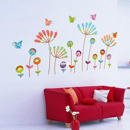Wholesale wall stickers home decor DIY wall stickers stickers wall stickers tiled furniture decorative colorful cartoon stickers butterfly flower JM83