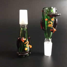 Wholesale New style Heady colored Donald Duck model glass bowl smoking bowl glass water pipes male bowl mm