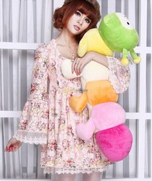 Wholesale Fancytrader cm Super Lovely Jumbo Plush Stuffed Colorful Caterpillar Toy Nice Gift for Girls FT50084