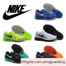Discount Shoes Run Air Max Nike Air Max 2014 Running Shoes 100% Original Men Fashion Sports Athletic Walking Sneakers Air Max Tennis Jogging Shoe Summer Breathable