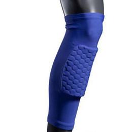 new knee sleeve 50pcs Crashproof Antislip Basketball Leg Knee Long Sleeve Protector Gear Honeycomb Pad hight quality