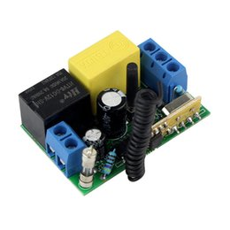 Wholesale AC220V Single Channel RF Wireless Remote Control Receiver Relay Module Switch MHz Learning Code F4262B