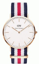 Wholesale 2016 Hot Daniel Wellington Luxury brands DW Watches Women Men Watch Top Brand Genuine Leather Nylon Strap Fashion Quartz Multiple Colors