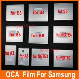 Wholesale 50x um OCA Optical Clear Adhesive Glue Film Double Side Sticker s6 s5 s4 Note LCD Repair Touch Screen Laminator Machine
