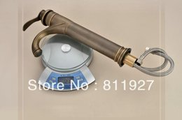 Wholesale years guarantee high grade antique brass brone tall wash face wash hand wash hand vessel sink basin faucet tap mixer cozinha