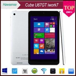 Wholesale Super Slim inch Cube U67GT iwork Windows IPS x800 Intel Z3735G Tablet Quad Core GB GB HDMI Dual Camera WIFI Bluetooth Tablet