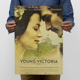 Wholesale 2016 Stickers The Young Victoria Of England Poster Retro Kraft Paper for Home Decorations World Map Enhancement