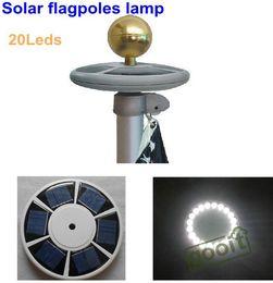 Wholesale High brightness LED Solar Powered flag pole light solar outdoor Garden Umbrella Landscape LED spot light dandys