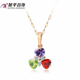 Xuping necklace female short paragraph clavicle chain necklace female gold-plated color small fresh new happy clover