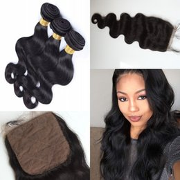 Wholesale Unprocessed A Malaysian Virgin Hair Body Wave Human Hair Weave Rosa Hair Products Malaysia bundles With pc Lace Closure a