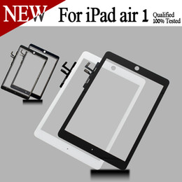 Wholesale Good Quality for Apple iPad Air for iPad High Quality Front Glass with Touch Screen Digitizer Assembly black white color