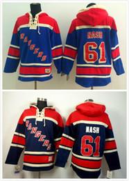 2016 New, 61 Rick Nash Ice Hockey Hoodie New York Rangers Men's Hockey Hoodies Sweatshirts