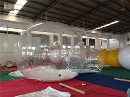 Wholesale hot transparent inflatable lawn bubble tent bubble tree inflatable camping tent x3m with corridor air pump free