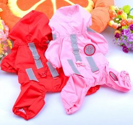Wholesale News Pet Beautiful Dog Raincoat Hoodie Hooded Waterproof Pet Clothes Apparel Pink Red XS S M L XL