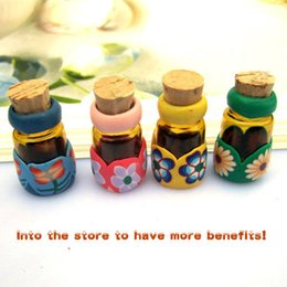Wish Bottles (20x10MM, 0.5ML) (Assorted colors) Fairy Dust Bottles Wish Vials Glass Bottles Wish bottle necklace pendant