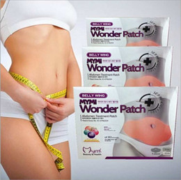Wholesale 5pcs pack Hot Belly Wing Mymi Wonder Patch Abdomen Treatment Reduce Weight Fat Burning Slimming Body Stomach Patch Mask CCA1760