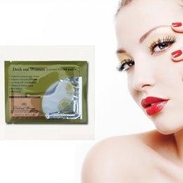 Wholesale-New 10pcs Crystal Collagen Eye Mask Sheet Packs Anti Wrinkles,Dark Circles # M01088