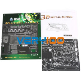Wholesale DIY D Laser Cut Metal Puzzle Jigsaw Model Steam Locomotive New Design No Glue
