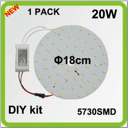 Wholesale TOP quality DIY EXTRA bright SMD lm W round LED ceiling light source disc led techo led circular tube w D tube