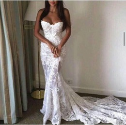 Vintage Court Style Long Mermaid Lace Bridal Grown Wedding Dresses Simple Cheap Lace Applique Formal Party Grown