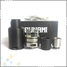 Wholesale Vaporizer Tsunami RDA By GeekVape Clone Improved Velocity style deck mm Rebuildable Dripping Atomizer fit Mod DHL Free