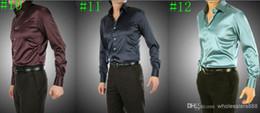 Wholesale-2016 New Any Colors Elastic Silk like Satin Men Wedding Shirt Groom Shirts Wear Bridegroom Slik Shirt For Men