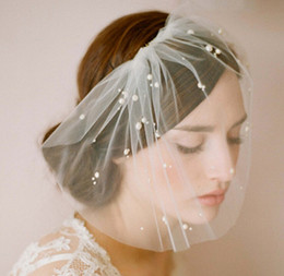Wholesale Bridal veils Wedding bridal Accessories beads Net veil Wedding Bridal Bird Cage Hat Veil
