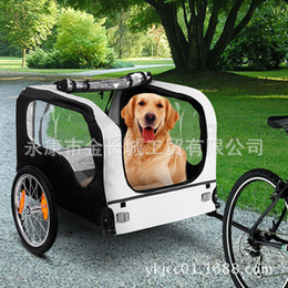 Wholesale small foldable bicycle pet trailer dog trailer pet product used as pet stroller and connect to bike as bike trailer