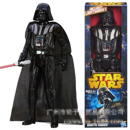 Wholesale High quality PVC action Star Wars Figures toy Black Knight Darth Vader Stormtrooper PVC Action Figures CM set in box B001