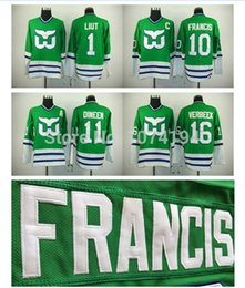 2015 Sale Hartford Whalers Hockey Jersey 10 Ron Francis 1 Mike Liut 11 Kevin Dineen 16 Pat Verbeek Jersey Cheap Stitched Green Jersey