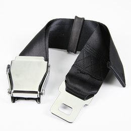 Wholesale Adjustable Type A inch Black Plane Airplane Aeroplane Airline Seat Belt Extender Extension Stainless Steel Buckle Strong Safty Nylon Belt