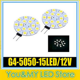 15LED G4 Light Lamp 5050SMD LED DC12V Dimmable 2W Warm White Light High Intensity Spotlight 100PCS Free Shipping