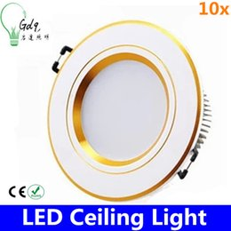 Wholesale 10x DHL free Dimmable W LED Down light V V COB LED Recessed ceiling downlights Lamp de luz de techo For Home Lighting Decorate tubes