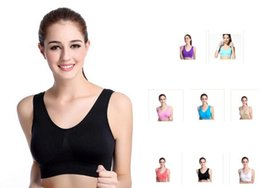 Wholesales and retail 8 colors sports vest seamless bra yoga bra running bra body shape push up vest