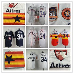 Wholesale 2015 Houston Astros Nolan Ryan blue White grey yellow Mitchell Ness Baseball Jersey Stitched Baseball Wear Athletic Mix Orders