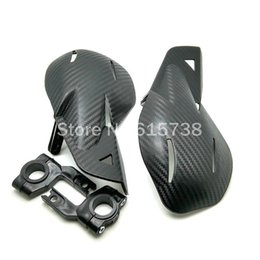 Wholesale COOL BLACK Carbon Motorcycle Handguards Hand Guards For Honda Yamaha Dirt KTM MX ATV