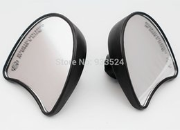 Wholesale Black Batwing Fairing Mount rear view Mirrors For Harley Tri Street Glide Electra Glide FLHT FLHX Ultra Classic order lt no track