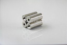 wholesale 20pcs Strong ring Magnets D10X2MM Countersunk 3.2mm Rare Earth Neodymium Magnet N50