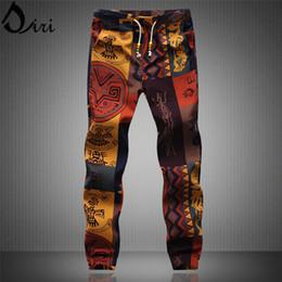 Wholesale Hawaii beach pants Mens Casual Drawstring Floral Joggers Indian Pattern Printed Dancing Dress Plus Size XL XL Yoga Sweatpants