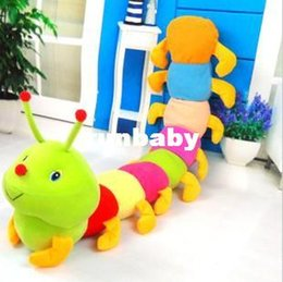 Wholesale 1 Piece cm Colorful Caterpillars Millennium Bug Doll Plush Toys Large Caterpillar Hold Pillow Doll X1489