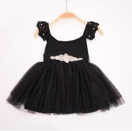 Wholesale kids clothes New Lace Flower princess party dress Summer Beaded Belt Tulle Kids Tutu Dresses Cute Children Party Dresses