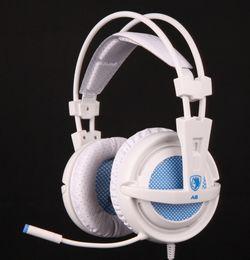 Original Professional Gaming Headphones Sades A6 game Headset Comfort Wearing USB 7.1 Surround Sound for DOTA WOW LOL CS Atlantica OL