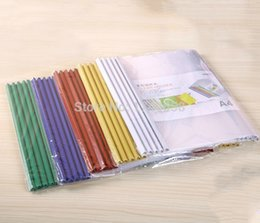 Wholesale A4 pumping rod clamp Transparent dry folder clamp Report cover clip Office stationery Dossier Office supplies