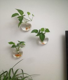 Wholesale 3PCS set Opening Glass Wall Terrariums Hanging Wall Planters for home decoration wall fish tank for wall decor indoor plants house ornament