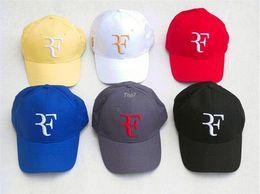 100% Cotton New 2016 Spring and autumn Sports Cap Snapback Women and men Baseball Cap Roger Federer RF Hybrid Hat