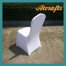 2016 top sale wedding white spandex lycra chair cover seat cover 50 pieces per lot thick